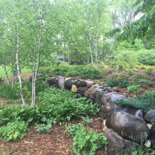 boulder wall garden