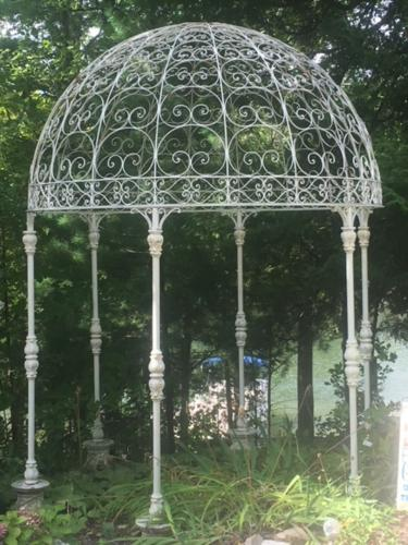 living enhancement metal pergola